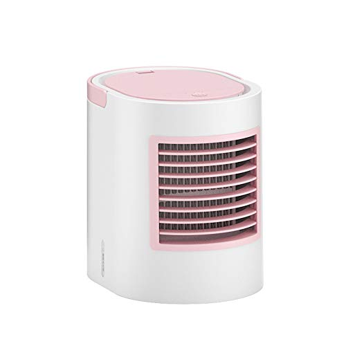 Tv 380 Display Lines - ICVDSRG 380Ml Large Capacity Desktop Desktop Air Conditioner Fan Three in One Silent Household Water Cooling Fan,Pink