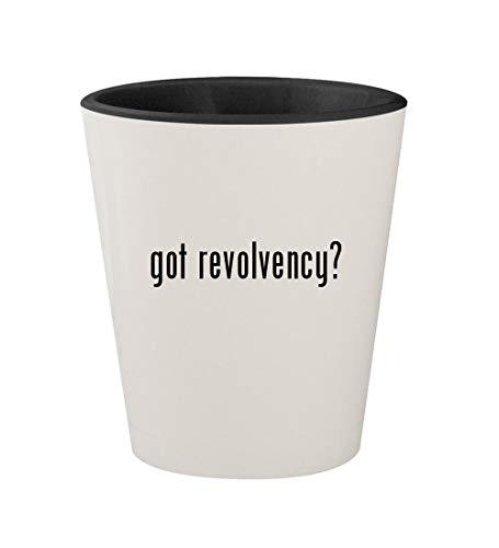got revolvency? - Ceramic White Outer & Black Inner 1.5oz Shot Glass