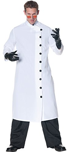 Mad Scientist Plus Size Costumes (UHC Men's Doctor Mad Scientist White Lab Coat Adult Outfit Fancy Costume, XXL (48-50))