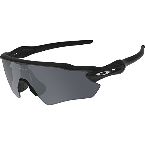 Oakley Men's Radar OO9208-01 Shield Sunglasses, Matte Black, 138 - Polarized Oakley Radar