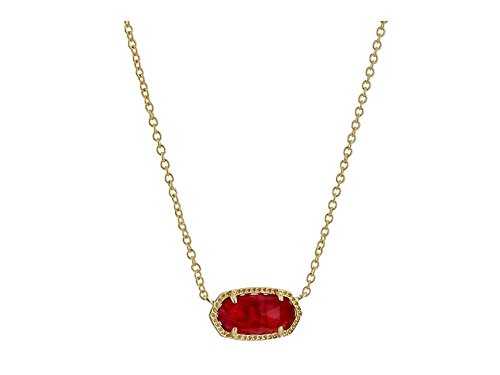 Kendra Scott Women's Elisa Birthstone Necklace October/Gold/Berry Illusion Necklace - October Birthstone Necklace