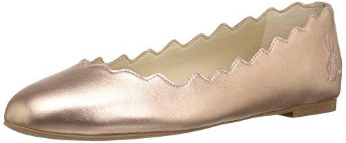 Sam Edelman Women's Francis Ballet Flat, Primrose Metallic Leather, 10 M US (Flats Leather Metallic Ballet)