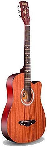 アコースティックギター 初心者ギター学生初心者ギターエントリピアノフォークアコースティックギター 小学生 大人用 ギター初級 (色 : A, Size : 38 inches)