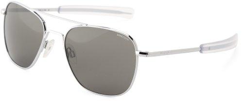Randolph Aviator Polarized Sunglasses, 55 mm