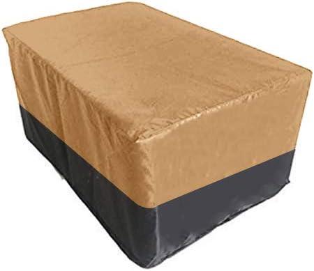 Hersent - Funda Impermeable para Muebles 420D Oxford Garden Patio Deck al Aire Libre de ratán para Mesa de Comedor Grande y Redonda, Juego de Muebles: Amazon.es: Jardín
