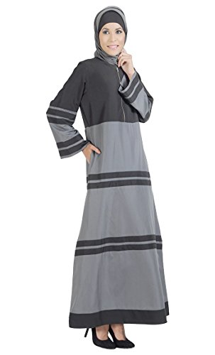 East Essence Femme À And Black Rayures Multicolore Grey Robe rrOqdg