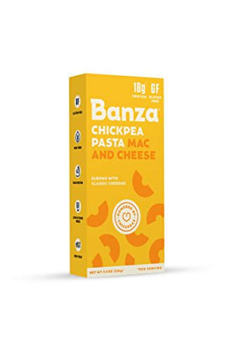 Banza Chickpea Pasta Mac & Cheese, Elbows with Classic Cheddar (Pack of (Cheese Spaghetti)