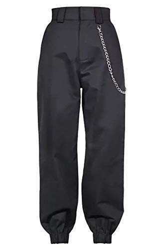 Alto Simgahuva Harem Sport I Lunghi Black Donne In Pantaloni Casual Cargo ZHwrHYUq