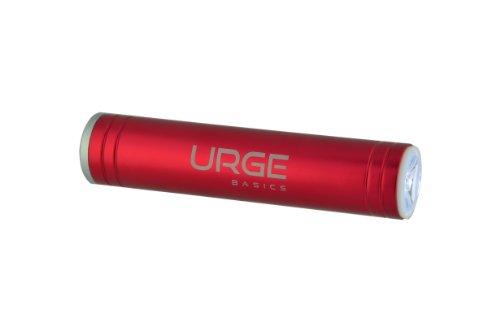 UrgeBasics 2600mAh Flash Tube Pro Portable Battery Charger for Smartphones - Retail Packaging - Red - Urge Basics Portable Power