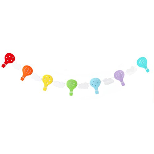 Tinksky Hot Air Balloon Cloud Garland Banner for Birthday Party Decoration Baby Shower birthday (Hot Air Balloon Baby Shower Favors)