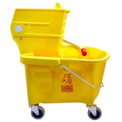 Mop/Bucket Wringer Combo, Side Press, 26 Quart, Yellow CMC226311YW