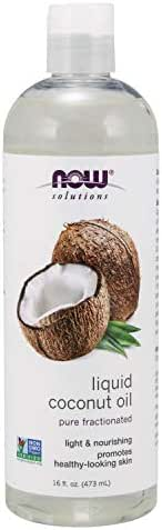 Now Solutions, Liquid Coconut Oil, Light and Nourishing, Promotes Healthy-Looking Skin and Hair, 16-Ounce