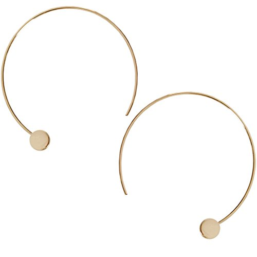 Humble Chic Disc Hoops - Modern Upside Down Curved Open Circle Threader Earrings, - Chic Fashion Modern