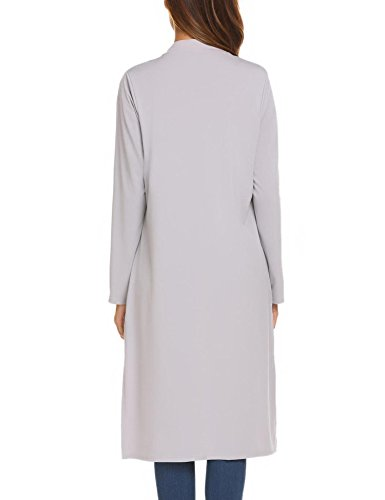 OD'lover Women's Open Front Long Trench Coat Casual Lightweight Blazer Cardigans by OD'lover (Image #5)