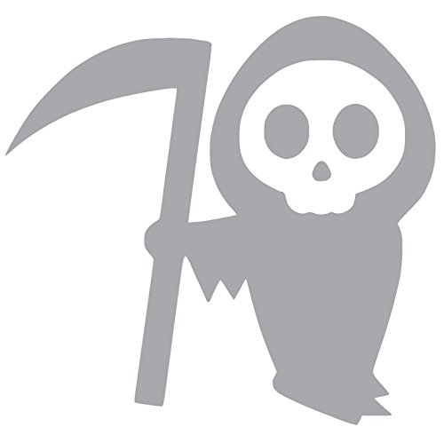 CARTOON GRIM REAPER HALLOWEEN SCARY DEATH Vinyl Sticker Decal (2