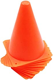 """Traffic Cones 24 Pack for Training and Play 7"""" Cone Flexible and Soft – Great for Party Sport Outdoor and Indo"""