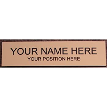 Amazon.com : Office Desk Name Plate or Door Sign - Laser Engraved ...