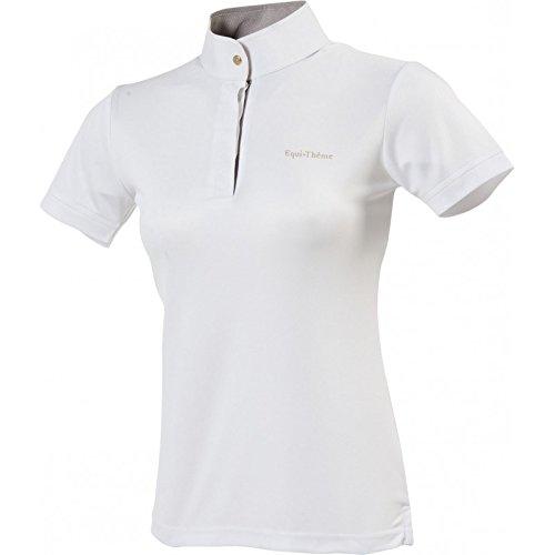 Equi-Theme//Equit suis Unisexe 987006042/en Maille /à Manches Courtes Polo Rose//Bleu//Blanc Contraste Taille Unique