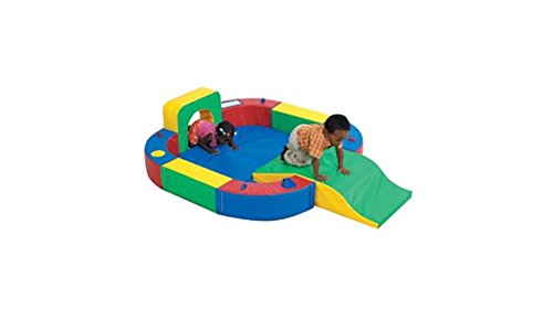 Children's Factory Playring with Tunnel and Slide Indoor Playground for Toddlers Active Play Set for Kids