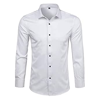 Amazon.com: Camisa de fibra de bambú para hombre 2019 de ...