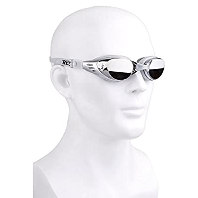 REIZ M301-SL-500 Waterproof Antifog Coating Myopia Eyewear Goggles Swimming Glasses 500 Degrees - Silver from REIZ Sports