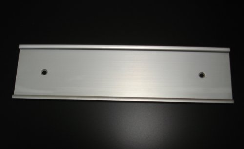 """Wall Mount Name Plate Holders Matte Silver (Not Shiny)- Pack of 10 (2"""" x 10"""")"""