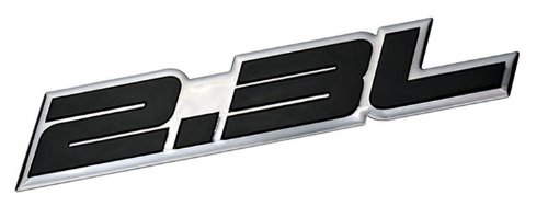 - 2.3L Liter Embossed BLACK on Highly Polished Silver Real Aluminum Auto Emblem Badge Nameplate for Honda Odyssey Accord LX DX EX SE Prelude Acura RDX iVtec CL Turbo Turbocharged Mazda3 Mazdaspeed 3 5 6 CX-7 S AWD Grand Touring Sport SUV B2300 Tribute Millenia Mitsubishi Ralliart Lancer Evolution Evo Isuzu Amigo Impulse Pickup Oasis Sedan coupe Wagon 2 3 4 5 2dr 3dr 4dr 5dr door hatchback turbo turbocharged