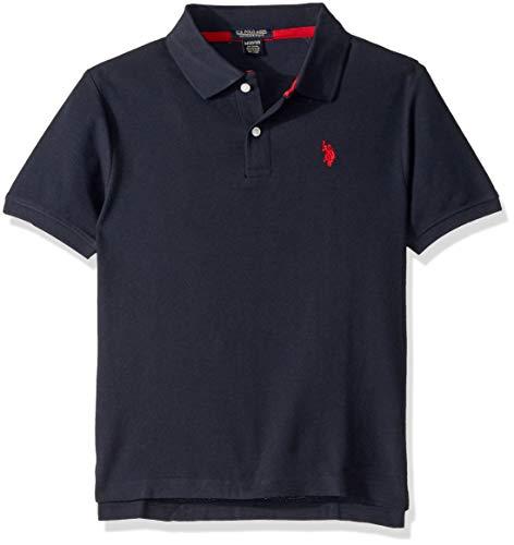 - U.S. Polo Assn. Boys' Big Short Sleeve Performance Polo Shirt, Classic Navy, 8