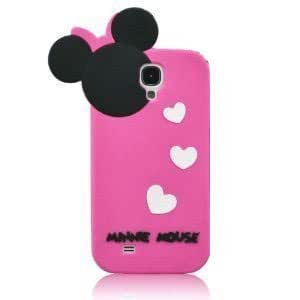 HELPYOU Pink Samsung S4 i9500 Cute Cartoon Hide and Seek Minnie Mouse Soft Silicone Case Protective Cover Skin Compatible For Samsung Galaxy S4 IV i9500