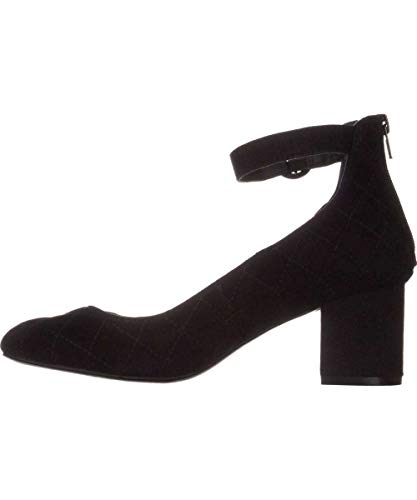 Alfani Womens Ashiaa Closed Toe Ankle Strap Classic Pumps, Black Suede, Size 7.5