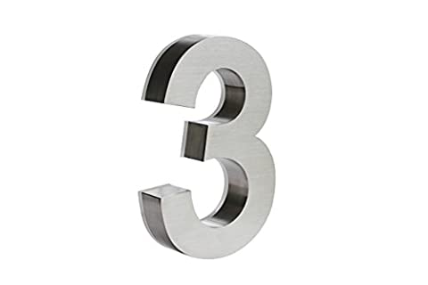 LED House numbers by JELSCO | Modern Big sign address numbers 8 Inches White (Steel House Numbers)