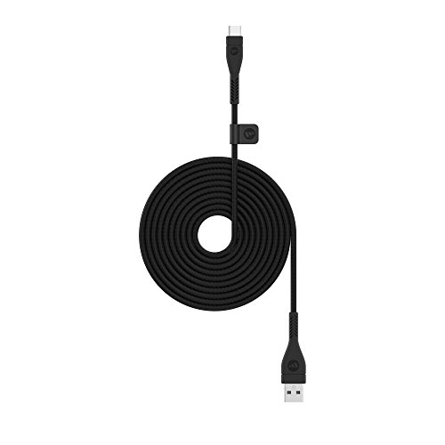 mophie 2 Meter PRO Cable - USB 2.0 USB-A to USB-C Cable made for devices with a USB-a and/or USB-C connectors - Black