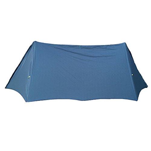 MagiDeal Camping Tente Fly 2 Personne pour Extérieur Randonnée Anti-pluie Anti-Soleil