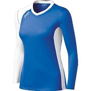 ASICS Women's Digg Long Sleeve Jersey, Royal/White, ()