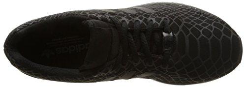 adidas ZX Flux Techfit Herren Sneakers Schwarz (Core Black/Core Black/Super Yellow F15)