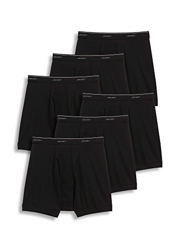 Jockey Men's Underwear Classic Boxer Brief - 6 Pack, black, XL Jockey Boxer Underwear