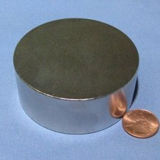 CMS Magnetics Neodymium Disc Magnets Grade N45 2.5'' X 1'' 1 Pack These Rare Earth Magnets Are Top Grade Disc Magnets Neodymium For Sale In The USA Today