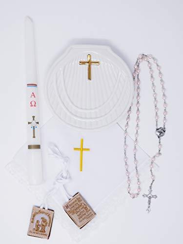 Premium Quality Baptism Kit, Kit de Bautizo (Pink)