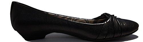 3-W-Hohenlimburg Elegante Pumps Low Heels Ballerinas. Schwarz. mit Schöner Schnalle. Sehr Edel, Damenschuhe, FLP104, Schuh für Damen, ein superbequemer Schuh. Schwarz