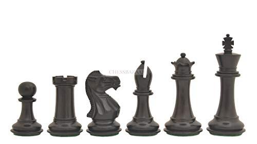 Slant Base - The Slant Base Staunton Series Chess Pieces in Ebony & Box Wood - 3.5