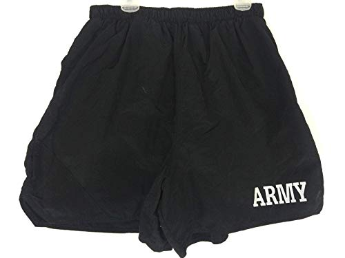 US Army IPFU PT Trunks Shorts Physical Fitness Uniform (XXXL, - Army Shorts Physical Black Training