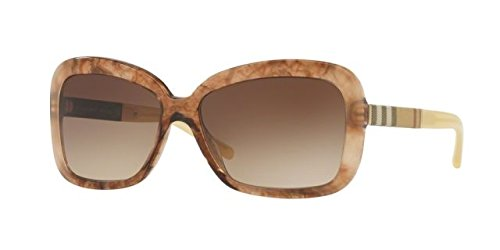 Burberry BE4173 361213 Light Brown Marble BE4173 Butterfly Sunglasses Lens Cate by BURBERRY