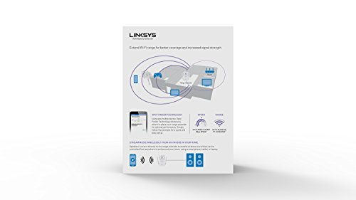 Linksys AC1200 Amplify Dual Band High-Power Wi-Fi Gigabit Range Extender / Repeater with Intelligent Spot Finder Technology and AC Pass Thru (RE6700) by Linksys (Image #10)