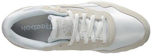 Reebok Königlichen Nylon Klassische Sneaker White/White/Steel