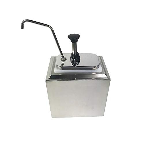 INTBUYING Stainless Steel Condiment Pump Single Head Sauce Dispenser Kitchen Restaurant by INTBUYING (Image #4)