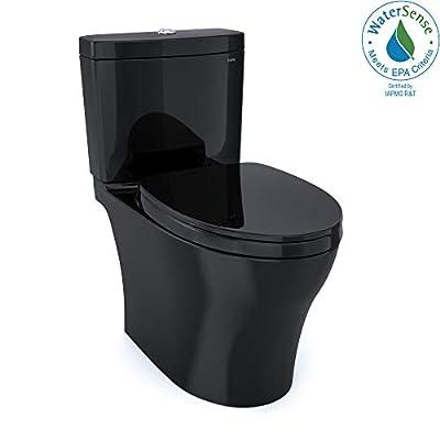 TOTO MS446124CUM#51 Aquia IV 1G WASHLET Elongated Dual Flush 1.0 and 0.8 GPF, Ebony-MS446124CUM Two-Piece Toilet, Ebony