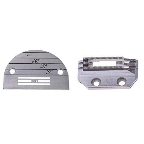 SM SunniMix Universal Sewing Machine Needle Plate and Feed Dog Set, E12, ()