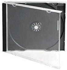 10.4mm Vision Media/® 25 X Triple CD Jewel Case Black Tray
