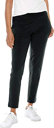 Coolibar UPF 50+ Women's Navona City Pants - Sun Protective (X-Large- Black) from Coolibar