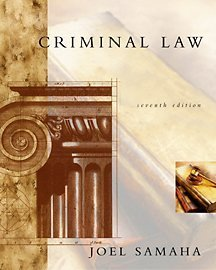 Criminal Law, 7th Edition (with CD-ROM and InfoTrac)